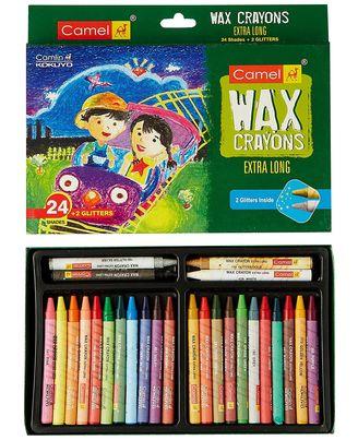 4522552 Wax Crayons 1000Xl-24+ Free 2 Glitter Sahdes