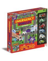 Pull Back And Go Emergency Vehicles Activity Set, na