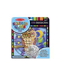 Melissa And Doug Diy Stained Glass Stickers Owl, Age 5+