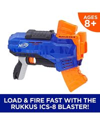 NERF Guns Elite Rukkus Ics 8 Blaster, Age 8+