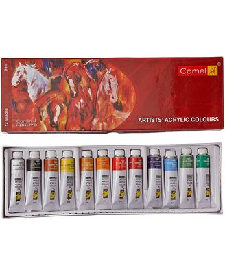 805721 Artist Acrylic Colours Tps Aac Box (9Ml X 12 Shades)