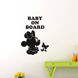 Kakshyaachitra Baby Mickey Mouse Wall Stickers For Kids Room, 17 24 inches