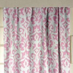 Rangshri Classic Readymade Curtain - 40, long door, pink