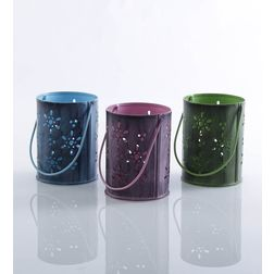 Aasra Decor Flower Bucket Candle Votive DecorVotives, multicolour