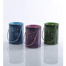 Aasra Decor Flower Bucket Candle Votive DecorVotives, multicolour