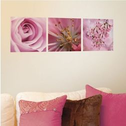 Wall Stickers Home Decor Line Pink flowers - 46001