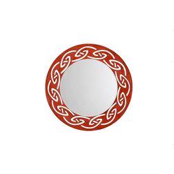 Aasra Decor Tribal Mirror Decor Wall Mirror, orange