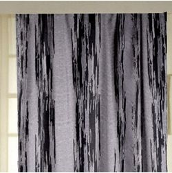 Tiara Abstract Readymade Curtain - 35Bluelack, long door, grey