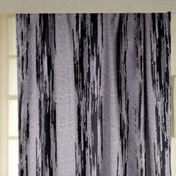 Tiara Abstract Readymade Curtain - 35Bluelack, long door, grey