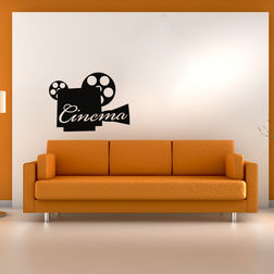 Kakshyaachitra Cinema Reel Wall Stickers For Bedroom And Living Room, 48 32 inches