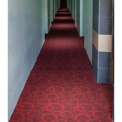 Floor Carpet and Rugs Hand Tufted AC Concept Geometric Red Carpets Online - CRD-54-L, 3ftx5ft, red