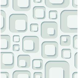 Elementto Creative Geometric Design Modern 3D Wallpaper for Walls - td31800, blue