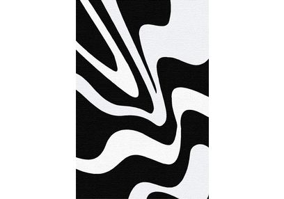 Floor Carpet and Rugs Hand Tufted, AC Concept Abstract Black Carpets Online - ACR (8) -L, black, 3ftx5ft
