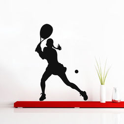 Kakshyaachitra Tennis Stroke Wall Stickers For Bedroom And Living Room, 22 24 inches