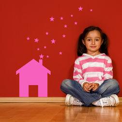 Kakshyaachitra House Stars Kids Wall Stickers, 24 32 inches