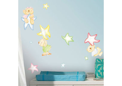 Wall Stickers For Kids Home Decor Line Bear Brothers - 11102