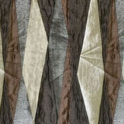 Astro Abstract Curtain Fabric - 28, brown, sample