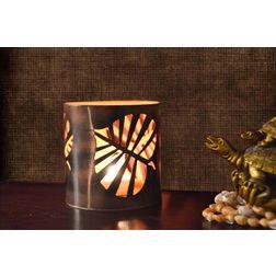 Aasra Decor Wild Leaf Candle Votive DecorVotives, orange