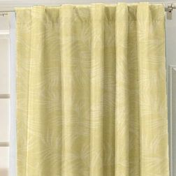 Constellation Floral Readymade Curtain - AT107, yellow, long door