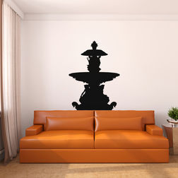 Kakshyaachitra Fountain Wall Stickers For Bedroom And Living Room, 48 36 inches