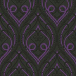 Elementto Wall papers Damask Design Home Wallpaper For Walls, black1, ir20009 black