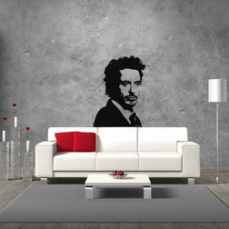Kakshyaachitra Robert Downey Jr. Wall Stickers For Bedroom And Living Room, 48 65 inches