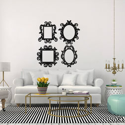 Kakshyaachitra Frames Wall Stickers For Bedroom And Living Room, 22 24 inches