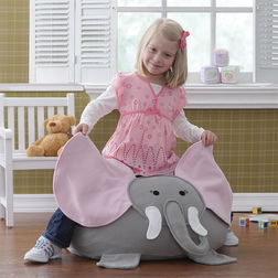 Elephant Kids Bean Bag Cover -BB09, grey