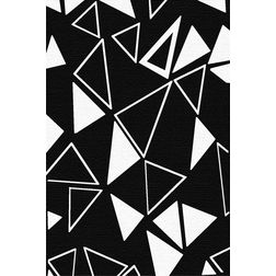 Floor Carpet and Rugs Hand Tufted, AC Concept Geometric Black Carpets Online - ACR (6) -L, black, 3ftx5ft