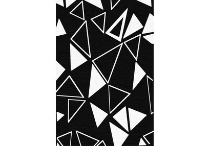 Floor Carpet and Rugs Hand Tufted, AC Concept Geometric Black Carpets Online - ACR (6) -L, 3ftx5ft, black