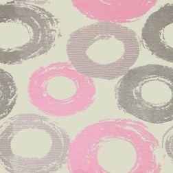 Passion Geometric Curtain Fabric - 5, pink, sample