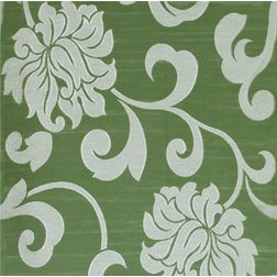 Rangshri Floral Curtain Fabric - 5, green, fabric