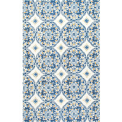 Floor Carpet and Rugs Hand Tufted, The Rug Concept Blue Carpets Online Tbilisi 6081-M, blue, 3ft x 5ft