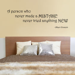 Kakshyaachitra A Person Who Never Made a Mistake Never Tried Anything Wall Stickers For Bedroom And Living Room, 48 15 inches