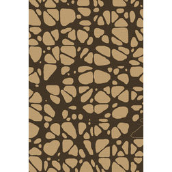 Floor Carpet and Rugs Hand Tufted, AC Concept Abstract Brown Carpets Online - ACR 53-L, brown, 3ftx5ft