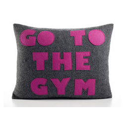 Go To Gym Cushion Cover MYC-59, pack of 1, grey