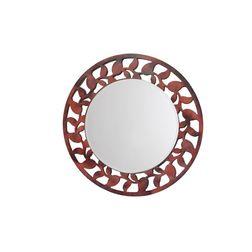 Aasra Decor Leaf Border Mirror Decor Wall Mirror, multicolor