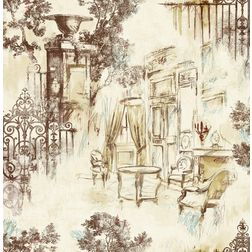 Elementto Wallpapers Garden Decor Design Home Wallpaper For Walls Ew70804-2, ivory