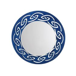 Aasra Decor Tribal Mirror Decor Wall Mirror, blue