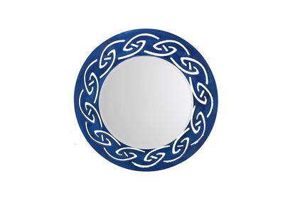 Aasra Decor Tribal Mirror Decor Wall Mirror, blue