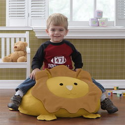 Kids Lion Bean Bag Cover - BB10, multicolor