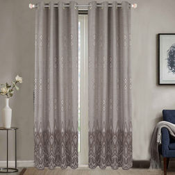 Dreamscape Poly Cotton Geometric, door, grey