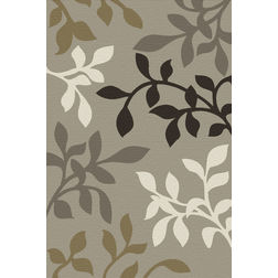 Floor Carpet and Rugs Hand Tufted, AC Concept Floral Grey Carpets Online - ACR 42-L, grey, 3ftx5ft