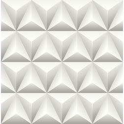 Elementto Geometric Design Modern 3D Wallpaper for Walls - td31000, white
