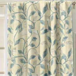 Emporio Floral Readymade Curtain - OSC705, long door, blue