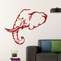 Kakshyaachitra Elephant Wall Stickers Kids Wall Stickers, 31 24 inches