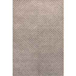 Floor Carpet and Rugs Hand Tufted, AC Concept Geometric Brown Carpets Online -B2-22-L, 3ftx5ft, brown