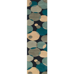Floor Carpet and Rugs Hand Tufted AC Concept GeometricBlue Carpets Online - RN-71-L, blue, 3ftx5ft