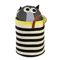 Laundry Hamper Storage,  black stripe