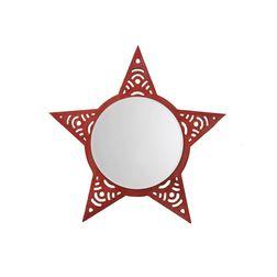 Aasra Decor Star Mirror Decor Wall Mirror, orange